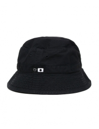 Bucket Hat Black Garment Dyed