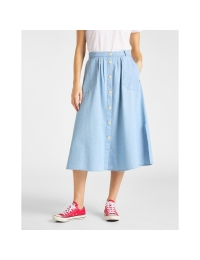 Chambray Skirt Summer Blue