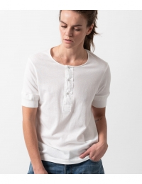 GO Button Facing Shirt White