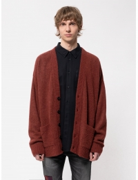 Manne Alpaca Cardigan Brick Red