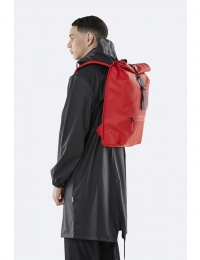 Roll Top Rucksack Red