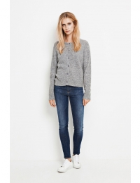 Short Cardigan 7355 Grey Mel